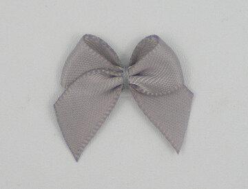 Plak strikjes grijs|100 st.