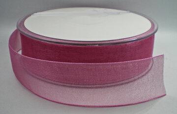 Organza lint oudroze 25mm