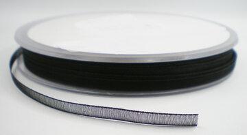 Organza lint zwart 3mm