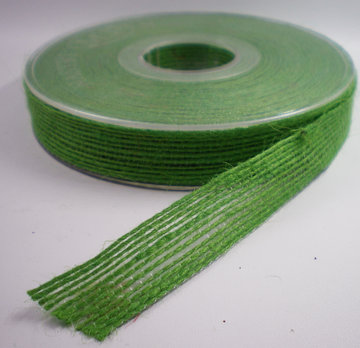 Jute band groen 15mm