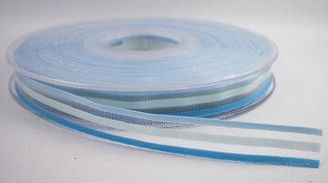 Gestreept lint blauw,10mm