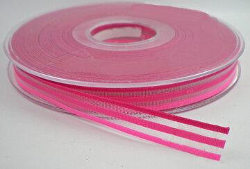 Gestreept lint roze,10mm