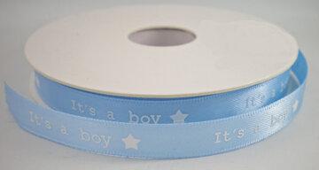 It's a boy lint lichtblauw