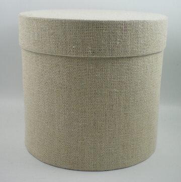 Cotton round box naturel