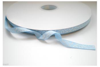 Happy dots open lichtblauw/wit, 10 mm