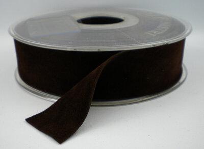 fluweel dz band donkerbruin
