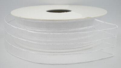 Organza lint wit/zilver