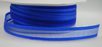 Organza satijn lint royal blue