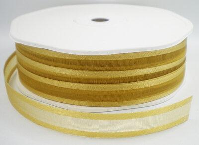 Organza/satijn lint goud