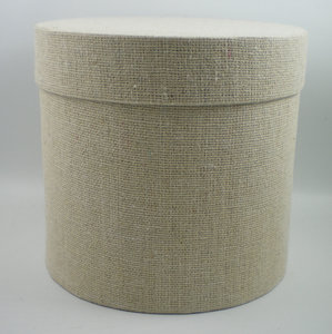 Cotton round box naturel