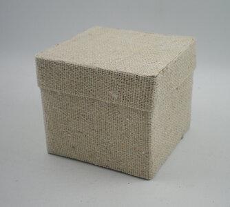 Cotton square box naturel 6x