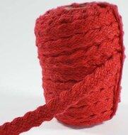 Gevlochten bandje rood