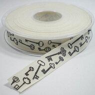Cotton sleutelprint lint.