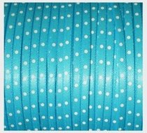 Turquoise stipjes lint, 3mm