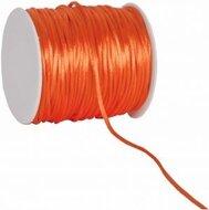 Oranje budget satijnkoord