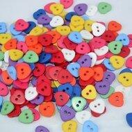 Hartjes knoopjes, 11mm