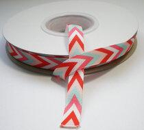 Triangle stripe grosgrain lint