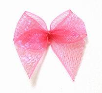 roze organza strikje