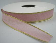 Batiste lint roze|goud