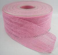 Jute band roze breed