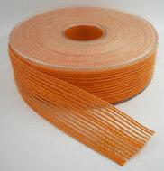 Jute lint oranje 25mm